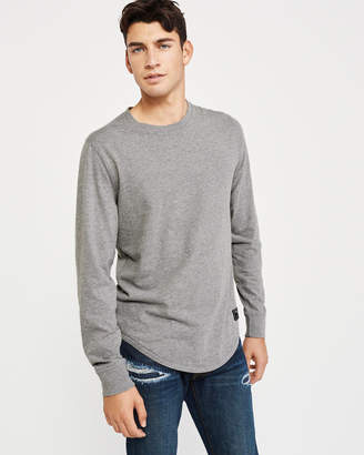 Abercrombie & Fitch Long-Sleeve Curved Hem Tee