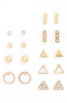 Women's Bp. 9-Pack Geo Stud Earrings $16 thestylecure.com
