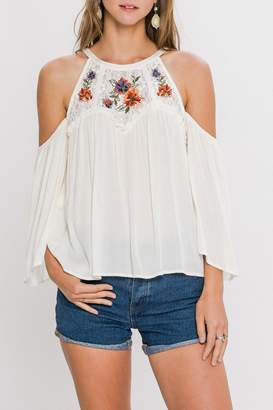 Flying Tomato Floral Embroidery Top
