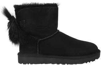 UGG Fluff Bow Mini Ankle Boots