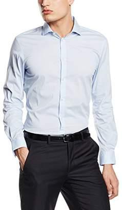 Esprit Men's Solid Striped PO Long Sleeve Polo Shirt,(Manufacturer Size:39-40)