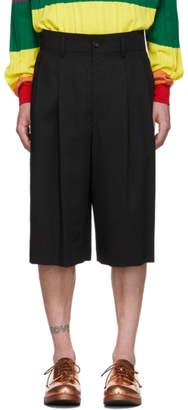 Issey Miyake Black Wool Voile Shorts