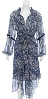 MISA Los Angeles Long Sleeve Peasant Dress