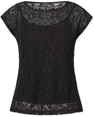 Ralph Lauren Lauren Embroidered Sheer Top $89.50 thestylecure.com