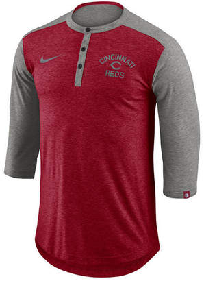 Nike Men's Cincinnati Reds Dry Henley Top