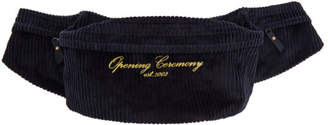 Opening Ceremony Navy Corduroy Fanny Pack