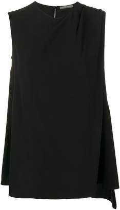 Alexander McQueen sleeveless draped top