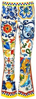 Dolce & Gabbana Printed Cropped Stretch
