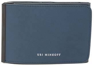 Uri Minkoff Tri-Fold Leather Wallet with Money Clip