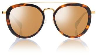 Blanc Eclare Sao Paulo Honey Tortoise And Gold Metal With Gold Mirror Lens