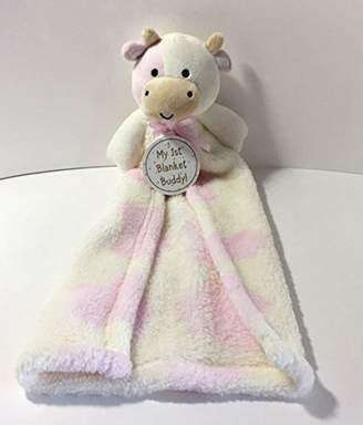 Cutie Pie Baby Cutie Pie @ Baby Inc. Cutie Pie My 1st Blanket Buddy Baby Security Blanket - Pink & White Cow