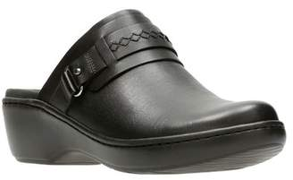 Clarks Delana Amber Leather Clog - Multiple Widths Available