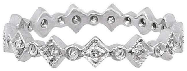 Cathy WatermanCathy Waterman Tiny Geometric Ring Guard - Platinum