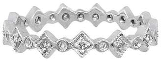 Cathy Waterman Tiny Geometric Ring Guard - Platinum