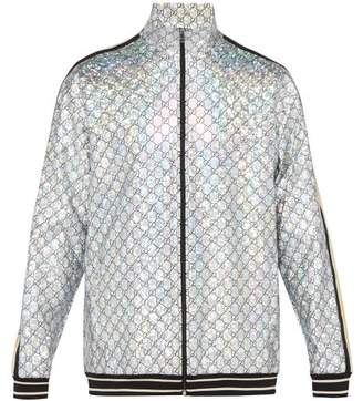 Gucci Gg Stretch Jersey Track Jacket - Mens - Silver