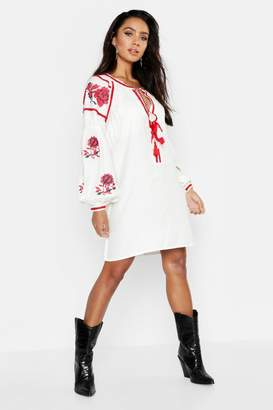 f2197cdaa8337 boohoo White Embroidered Dresses - ShopStyle Australia