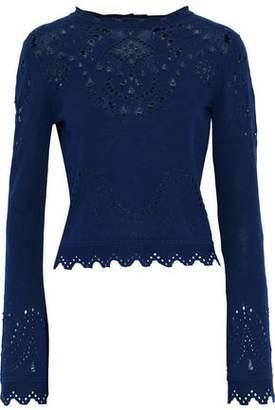 Derek Lam 10 Crosby Pointelle-Knit Cotton Sweater