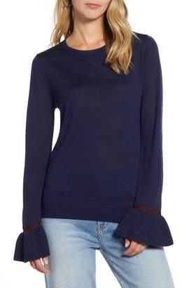 Halogen Ruffle Cuff Sweater