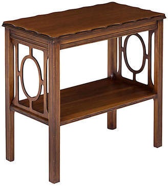 One Kings Lane Vintage Chippendale-Style Fretwork Side Table - Janney's Collection