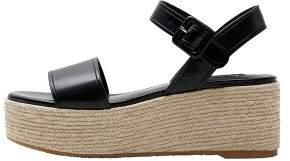 MANGO Wedge braided sandals