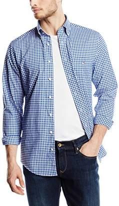 Gant Men's The Poplin Gingham Check Long Sleeve Regular Fit Casual Shirt