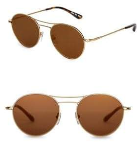 Toms Melrose 53mm Round Sunglasses