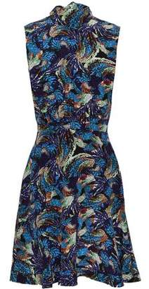 Saloni Alen Floral-print Silk-satin Mini Dress