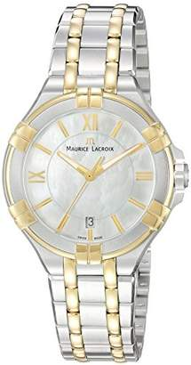 Maurice Lacroix Women's 'Aikon' Quartz Steel and 14K and and Gold Casual Watch(Model: AI1006-PVY13-160-1)