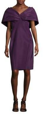 Zac Posen Silk Pleated Sleeve Dress