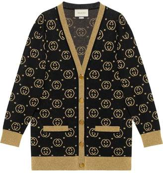 Gucci Wool cardigan with GG motif