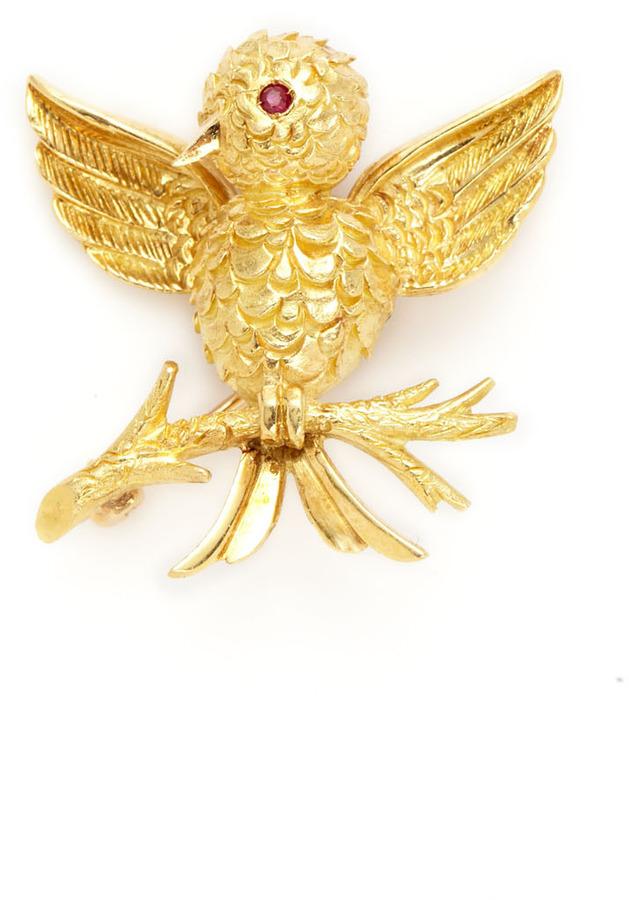 Tiffany & Co. Gold Bird On Branch Brooch