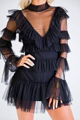 Karlie Clothes Black, Ruffled Dress