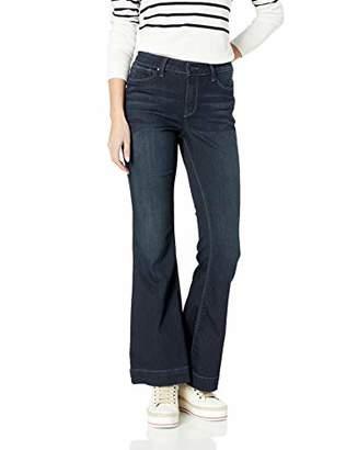 Fly London Laurie Felt Women's Silky Denim High Heel Bell Zip Jeans