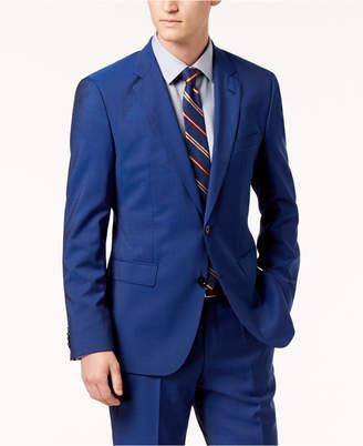 HUGO BOSS HUGO Men's Modern-Fit Bright Blue Solid Suit Jacket