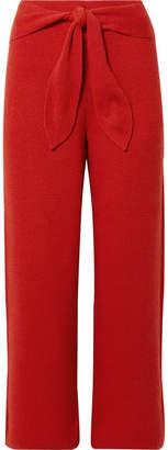 Nanushka - Tigre Cropped Ribbed-knit Pants - Red