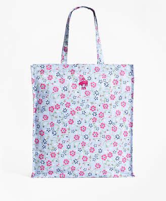 Brooks Brothers Floral-Print Nylon Tote Bag