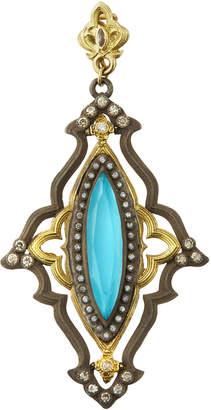 Armenta Old World Turquoise Enhancer w/ Diamonds & Sapphires