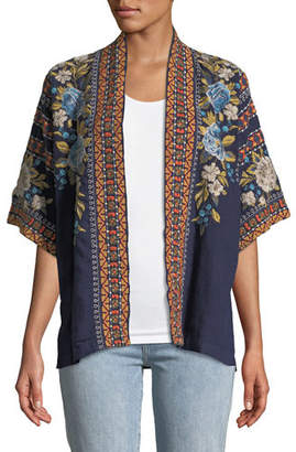 Johnny Was Hira Embroidered Linen Kimono, Plus Size