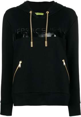 Versace chain detail hoody