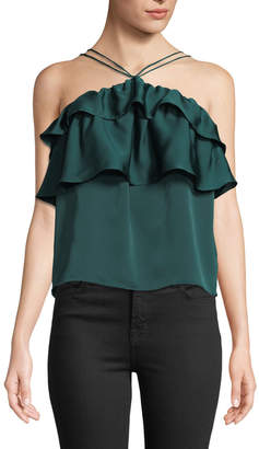Endless Rose Ruffled Halter Camisole Top