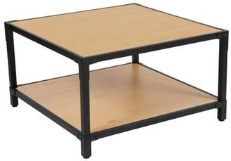 Flash Furniture Holmby Collection Wood Grain Finish Coffee Table with Metal Legs