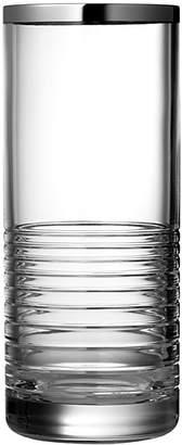 """Vera Wang Grosgrain Platinum 10"""" Vase"""