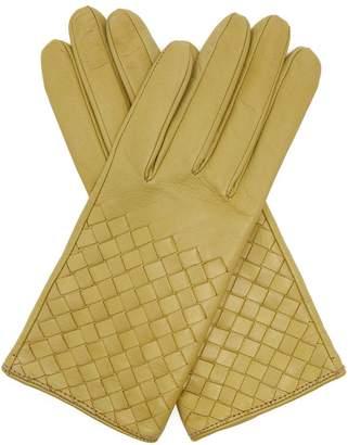 Bottega Veneta Intrecciato leather gloves