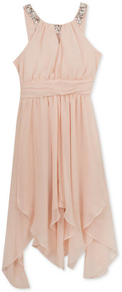 Rare Editions Embellished-Neck Dress, Girls (7-16) $64 thestylecure.com