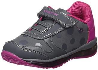 Geox Girl's B TODO G. C Sneakers, Dk Grey/Cyclamen, 21 EU/
