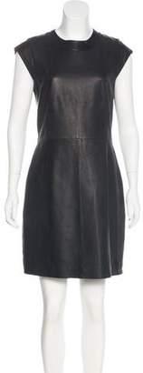 Theory Orinthia Leather Dress w/ Tags