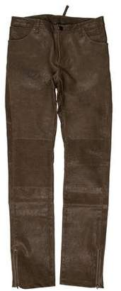Yigal Azrouel Mid-Rise Leather Pants