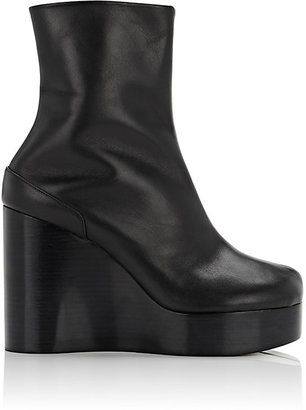 Maison Margiela Women's Split-Toe Platform Wedge Boots-BLACK $1,250 thestylecure.com