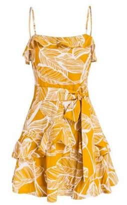 Goodnight Macaroon 'Patti' Ruffle Tied Floral Dress
