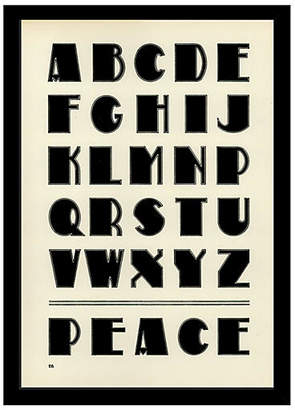 One Kings Lane Peace Alphabet Art